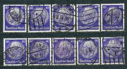 Deutsches Reich 1932, MiNr 472 (from Set MiNr 467-473 Wz. 2) Used - Lot Of 10 Stamps - Gebraucht