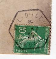 """1925-Beaux Cachets Hexagonaux à étoile-bureau Rural-VAL D'ISERE-73 Du 13-7-25 Sur CPA """"La Grande Motte"""" éd Béroud - Marcophilie (Lettres)"""
