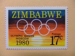 ZIMBABWE 1980 JUEGOS OLIMPICOS MOSCU Yvert Nº 16 ** MNH - Zimbabwe (1980-...)