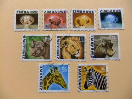 ZIMBABWE 1980 RIQUEZAS DEL PAIS Yvert N 1 /10  FU Incompleta - Zimbabwe (1980-...)