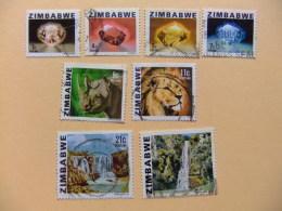 ZIMBABWE 1980 RIQUEZAS DEL PAIS ( 8 Sellos) Yvert N º 1 +3 +4 /7 +11+14 º FU Serie Incompleta - Zimbabwe (1980-...)