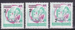 YUGOSLAVIA 1990. Definitive, MNH (**), Mi 2442 I A, C; II A - 1945-1992 Sozialistische Föderative Republik Jugoslawien
