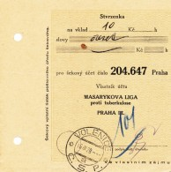 K9518 - Czechoslovakia (1928) Volenice (postal Money Order); Account Owner: Masaryk League Against Tuberculosis