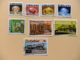 ZIMBABWE 1980 RIQUEZAS DEL PAIS LOTE DE 8 SELLOS USADOS Yvert Nº 1-3-4-5-6-22-23-77 FU Número De Artículo: 210432762 - Zimbabwe (1980-...)