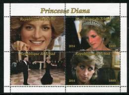 PRINCESS DIANA Dance With JOHN TRAVOLTA On Stamps Sheet (2014),MNH,Mint,#BD114