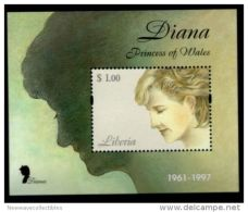 LIBERIA In Memoriam Princess Diana MNH Souvenir Sheet, Classic