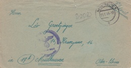 Feldpost WW2: 3./1. S.M.A. In Neustrelitz P/m Neustrelitz 25.1.1944 - Letter Inside  (G60-77) - Militaria
