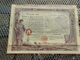 OTTOMANE DES MINES DE BALIA KARAIDIN (capital 8 Millions) 1913 - Zonder Classificatie