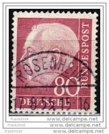 Germany, 1954, Pres. Theodor Heuss, 80pf, Used - Usati