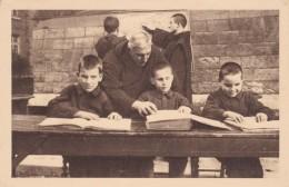 St Jean De Dieu Freres, Blind Children Reading Braille, C1910s/20s Vintage France Postcard - Christianity