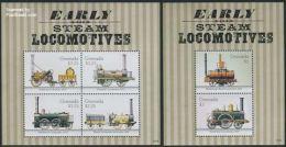 Grenada 2014 Locomotives 2 S/s, (Mint NH), Transport - Railways - Grenada (1974-...)