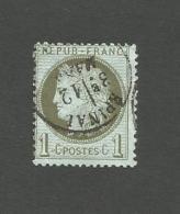 50  1c  Vert Olive   Beau Cachet (clasA) - 1849-1850 Cérès