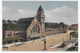 METZ - LA GARE AVEC TRAMWAY - CPA NON VOYAGEE - Metz