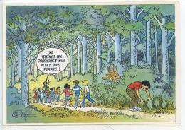 Ne Trainez Pas Derrière....(Scouts Petit Poucet) Bernard Dufossé Illustrateur Humour (CP Double Neuve) - Humour