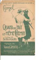 Partition- Quand On Fait Le Meme Chemin - Paroles: Bertert Et V. Scotto -- Musique:Vincent Scotto - Non Classés