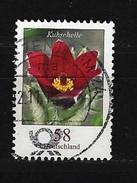 """BUND Mi-Nr. 2968 Blumen Rotblühende Kuhschelle (Pulsatilla Vulgaris """"Rubra"""") Gestempelt (7) - BRD"""