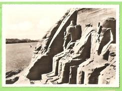 CP  REAL PHOTO EGYPTE ABOU SIMBEL ROCK TEMPLE OF RAMSES II - Abu Simbel