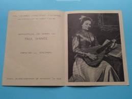 Expo Des Oeuvres De PAUL WANTE Portraits Peintures - Anno 1946 ( Atelier ANVERS ) ( Details - Zie Foto's ) ! - Autres Collections