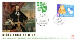 - ANTILLES NEERLANDAISES - FDC WILLEMSTAD 19.VII.1966 - Visite De L´amiral DE RUYTER à L´île Saint-Eustasius -