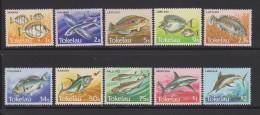 Tokelau Mi 101-110 Fish - Convict Surgeonfish (Acanthurus Triostegus) - Flying Fish (Cypselurus Sp.) - Bluespine Unicorn - Tokelau