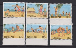 Tokelau Mi 142-147 Sports - Javelin - Shot Put - Long Jump - Hurdles - Running - Wrestling - 1987 * * - Tokelau