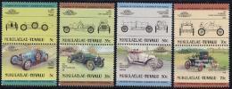 Tuvalu 1985 Automobiles 4x2v [:] (Nukulaelae), (Mint NH), Transport - Automobiles - Sport - Autosports