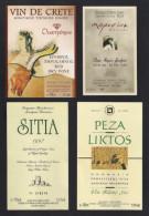 Lot De 11 étiquettes De Vin De Crète. - Verzamelingen, Voorwerpen En Reeksen