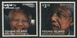 Saint Vincent Grenadines 2013 Young Island, Nelson Mandela 2v, (Mint NH), History - Politicians - Nobel Prize Winners - - Unclassified