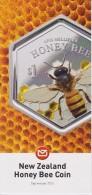 New Zealand 2016 Brochure About Honey Bee Coin - Monnaies
