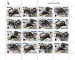 Mozambique. 2016 WWF – Otter. (4 Sets) (401d)