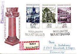 RDA. N°930-2 De 1966 Sur Enveloppe 1er Jour Ayant Circulé. Château De Wartburg.