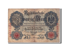 Allemagne, 20 Mark, 1910, KM:40b, 1910-04-21, B+ - [ 2] 1871-1918 : Empire Allemand