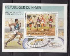 NIGER 1976 - OLYMPICS MONTREAL 76 -  BLOCK - Verano 1976: Montréal