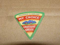 Cheese Queso Kase Label Etikette Etiqueta ~1920-1950 MY CHOICE CRUSTLESS ENGLAND - Cheese