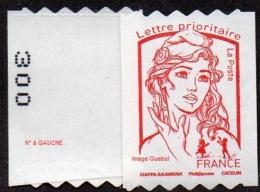 France Marianne De Ciappa Et Kawena N° 1256.** Autoadhésif - Roulette Prioritaire Sans Le Grammage, Verso à Gauche (PRO) - 2013-... Marianne Of Ciappa-Kawena