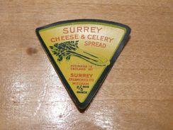Cheese Queso Kase Label Etikette Etiqueta ~1920-1950 SURREY CELERY MITCHAM ENGLAND - Cheese