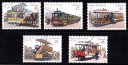 Australia 1989 Historic Trams Set Of 5 MNH - 1980-89 Elizabeth II