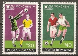 ROUMANIE    -.    FOOTBALL.   Mondial Munich 74.   -   Oblitérés. - World Cup