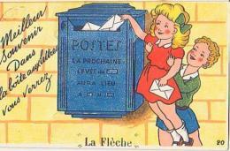 Illustration     50      ( Carte à Système ) La Flèche. Meilleurs Souvenir .... - Contemporain (à Partir De 1950)