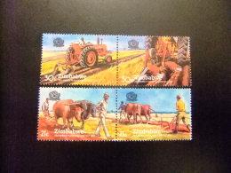 ZIMBABWE 1983 CONCURSO MUNDIAL DE LABRANZA Yvert Nº 50 / 53 ** MNH - Zimbabwe (1980-...)