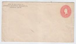 USA PONTIAC KNITTING WORKS CO PS COVER MINT 2c - ...-1900