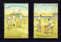 Australia 1992 Cricket - Sheffield Shield Centenary Set Of 2 MNH