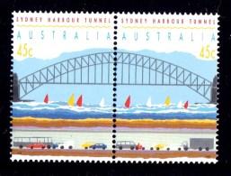 Australia 1992 Sydney Harbour Tunnel Set Of 2 MNH