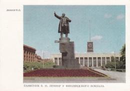 Soviet Postal Stationary Leningrad Lenin Statue 1968 - Mint  (SKO15-4E)