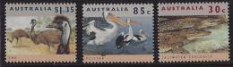 MINT STAMPS  - WILDLIFE ANIMALS EMU, PELICAN, CROCODILE  - 1992 -  AUSTRALIA - ** / MNH  ---