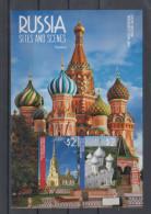 Palau 2014 Mi Bl 318 MNH Russia,Cathedrals,St. Petersburg,Vologda
