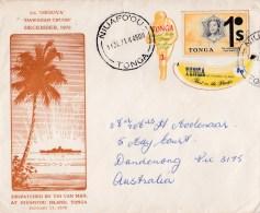 Tonga 1971 Orsova Hawaiian Cruise Tine Can Mail Niuaffo'ou Cover - Tonga (1970-...)