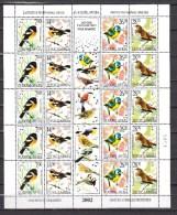 Yugoslavia 2002,5 Sets In Sheet,birds,vogels,vögel,oiseaux,pajaros,uccelli,aves,MNH/Postfris(L2753) - Vogels