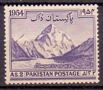 1954 Pakistan Conquest Of K-2 Also Known Chhogori, Qogir, Ketu, Kechu, Savage, Mount Godwin-Austen (1v) MNH (PK-01)