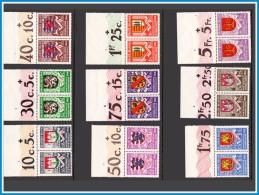 Belgium 0538/46** - Armoiries MNH  En Paire + Marques - Belgique